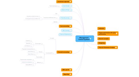 Mind Map: Management Control Systems