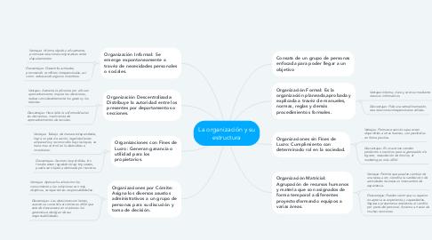 Mind Map: La organización y su estructura