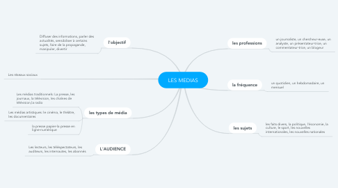Mind Map: LES MEDIAS