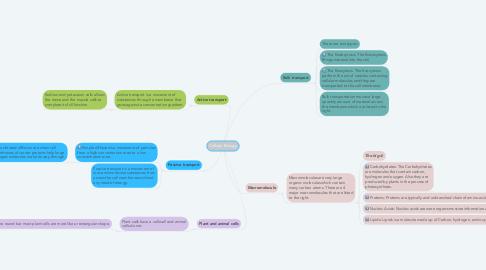 Mind Map: Cellular Biology