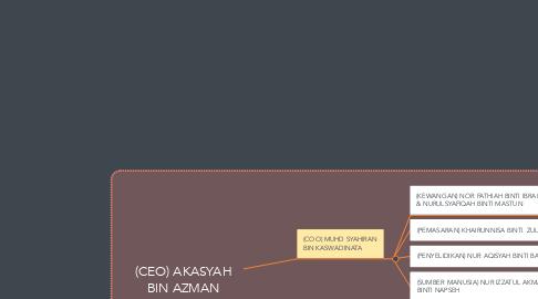 Mind Map: (CEO) AKASYAH BIN AZMAN