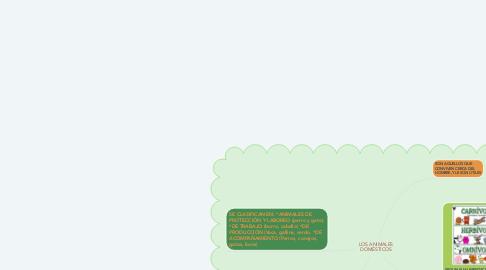 Mind Map: LOS ANIMALES DOMÉSTICOS