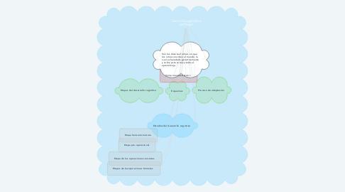 Mind Map: Teoría Psicogenética de Piaget