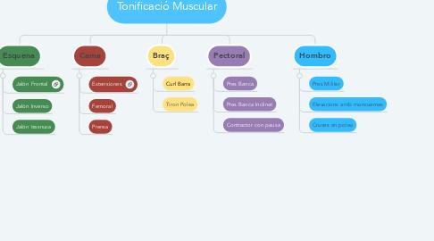 Mind Map: Tonificació Muscular