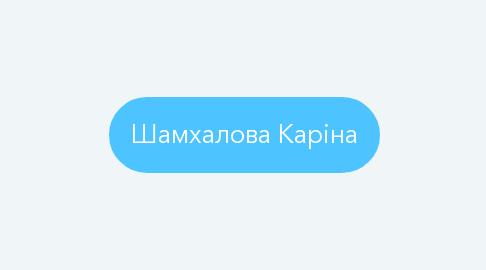 Mind Map: Шамхалова Каріна