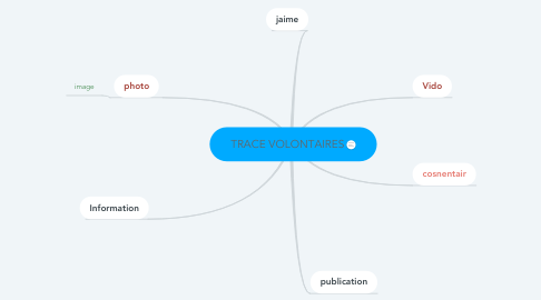 Mind Map: TRACE VOLONTAIRES