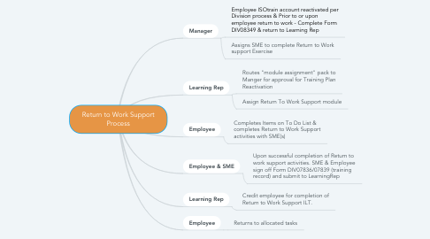 Mind Map: Return to Work Support Process