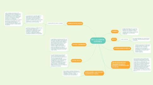 Mind Map: NIF C-11 CAPITAL CONTABLE