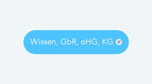 Mind Map: Wissen, GbR, oHG, KG