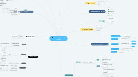 Mind Map: Pruebas en el desarrollo de Software