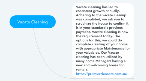 Mind Map: Vacate Cleaning
