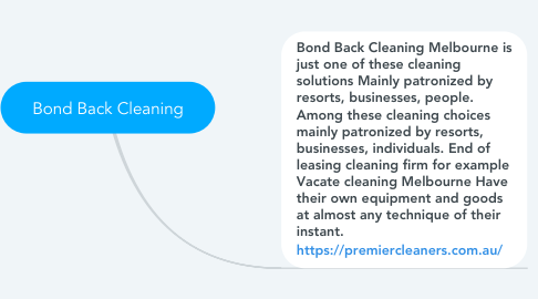 Mind Map: Bond Back Cleaning