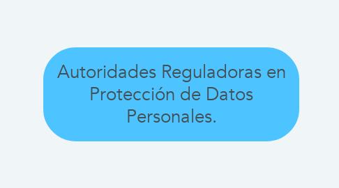 Mind Map: Autoridades Reguladoras en Protección de Datos Personales.