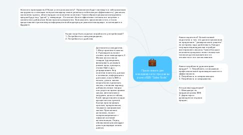 """Mind Map: Приложение для менеджеров по продажам рынка B2B """"Sales Tools"""""""