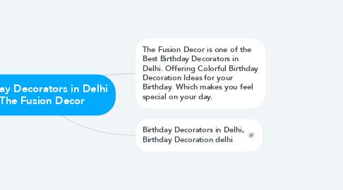Mind Map: Birthday Decorators in Delhi - The Fusion Decor