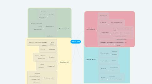 Mind Map: Etat de santé