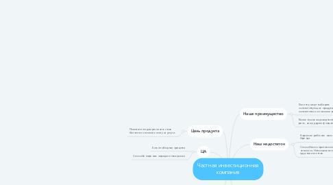 Mind Map: Частная инвестиционная компания