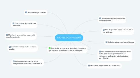 Mind Map: PROFESSIONNALISME
