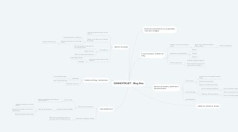 Mind Map: GRAND PROJET : Blog Aéro