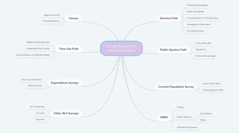Mind Map: Survey Research in American Politics