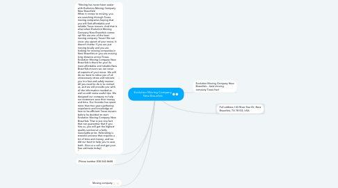 Mind Map: Evolution Moving Company New Braunfels