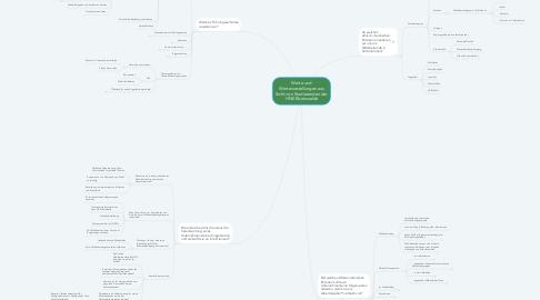 Mind Map: Werte und Wertevorstellungen aus Sicht von Studierenden der HNE Eberswalde