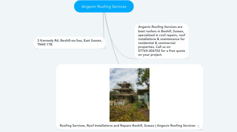 Mind Map: Angevin Roofing Services