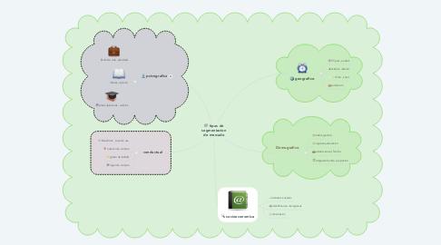 Mind Map: tipos de segmentacion de mercado