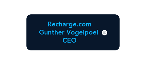 Mind Map: Recharge.com Gunther Vogelpoel  CEO