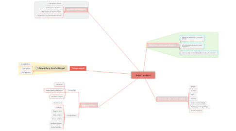 Mind Map: Sistem auditori