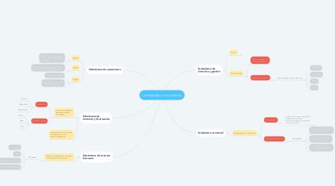Mind Map: La empresa como sistema