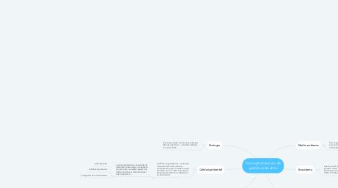 Mind Map: Conceptos básicos de gestión ambiental