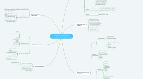 Mind Map: La auditoría como herramienta de investigación y control gubernamental