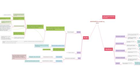 Mind Map: SUBSTANTIVO=substância, nome
