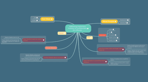 Mind Map: Addressing Inadvertent Violation of Confidentiality Erin Wheeler