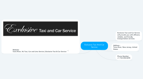 Mind Map: Exclusive Taxi And Car Service