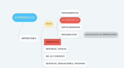 Mind Map: EXPERIENCIAS