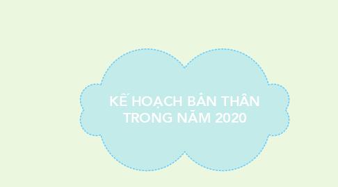 Mind Map: KẾ HOẠCH BẢN THÂN TRONG NĂM 2020