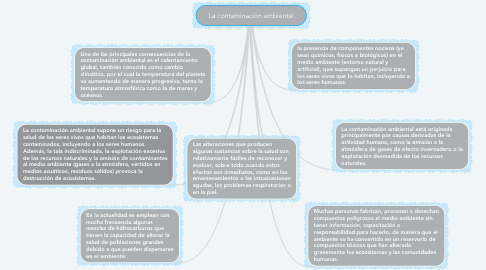 Mind Map: La contaminación ambiental