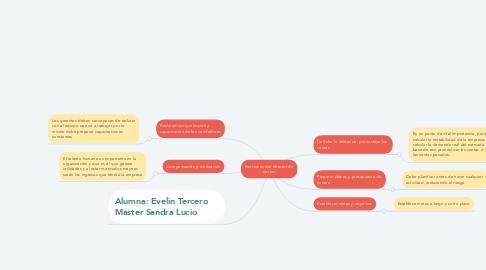 Mind Map: Funciones del director de ventas