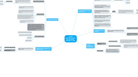 Mind Map: TEORÍA ORGANIZACIONAL: UNA REVISIÓN -  RICHARD H. HALL