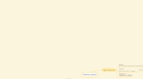 Mind Map: Skeletal system