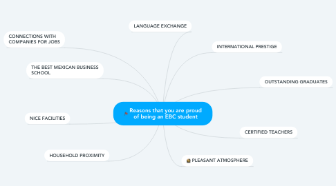 Mind Map: Reasons that you are proud of being an EBC student