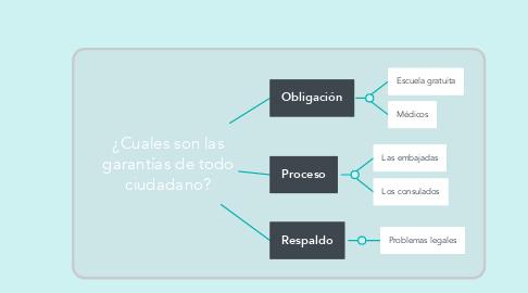 Mind Map: ¿Cuales son las garantías de todo ciudadano?