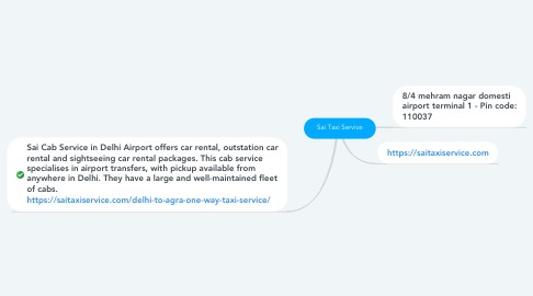 Mind Map: Sai Taxi Service