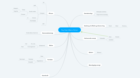 Mind Map: Fey Grøn Marco Simon