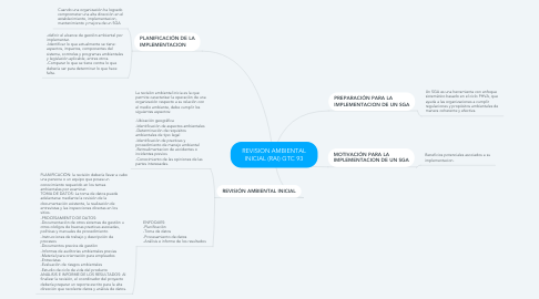 Mind Map: REVISION AMBIENTAL INICIAL (RAI) GTC 93
