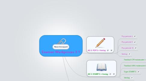 Mind Map: Examen Werkproces 3.1