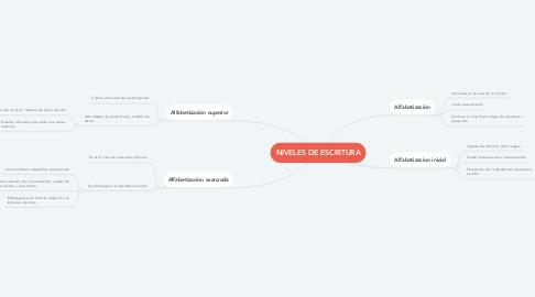Mind Map: NIVELES DE ESCRITURA