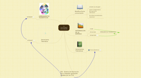 Mind Map: La funcionalidad de la empresa